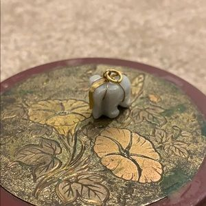 Jade elephant pendant from Thailand